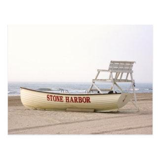 Stone Harbor Boat Postcard