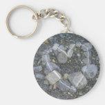 Stone Heart Keychain