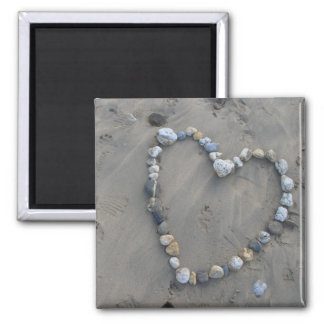 Stone heart magnet