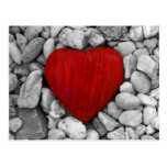 Stone heart post cards