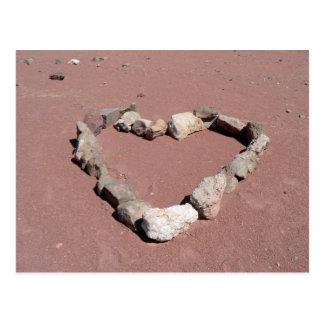 Stone heart postcards
