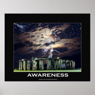 STONE HENGE Awareness Motivational Art Poster