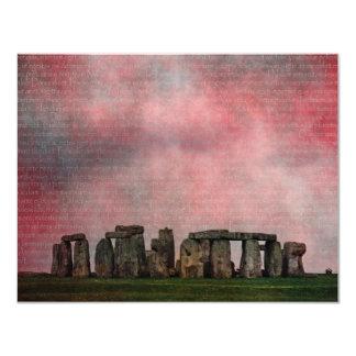 Stone Henge Textural 4.25x5.5 Paper Invitation Card