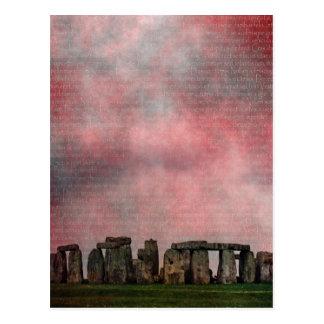 Stone Henge Textural Postcard