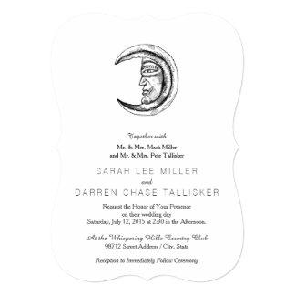 Stone Hilal Crescent Moon Black Card
