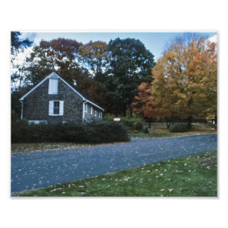 Stone House at Autumn Photographic Print