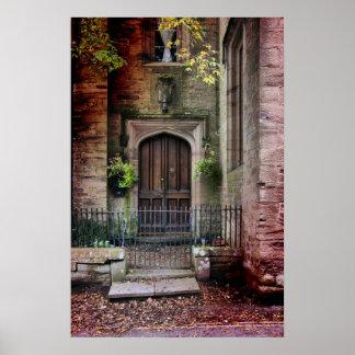 Stone House Door Poster