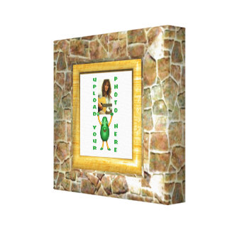 Stone illusion photo border wrapped canvas gallery wrapped canvas