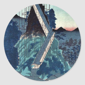 Stone image- Bodhisattva by Utagawa,Hiroshige Round Stickers