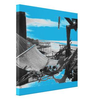 Stone Island Hammock B+W Canvas Print