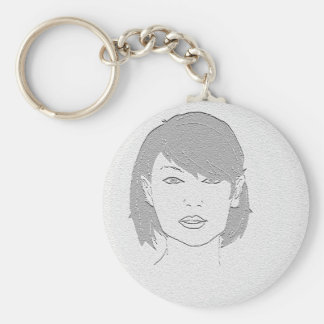 Stone Lady Filtered Basic Round Button Keychain