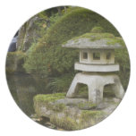 Stone lantern and Heavenly Falls Dinner Plates