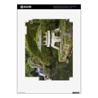 Stone lantern and Heavenly Falls iPad 3 Skin