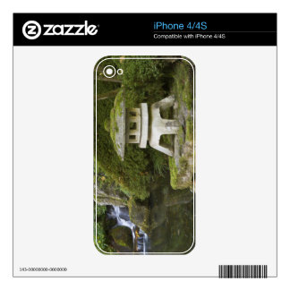 Stone lantern and Heavenly Falls Skins For iPhone 4S