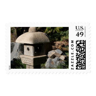 Stone Lantern At The Wild Animal Park In San Diego Stamps