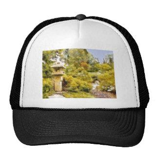 Stone Lantern Garden Trucker Hat