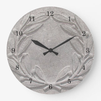 Stone Laurel Wreath Large Clock