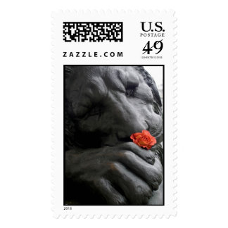 Stone Lion and Rose Stamps