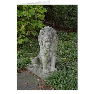 Stone Lion Card