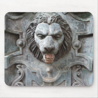 Stone Lion Head Mouse Pad