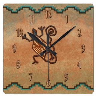 Stone Lizard Square Wall Clock