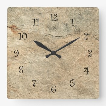 Stone Look Kitchen Wall Clocks by idesigncafe at Zazzle