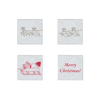 Stone Magnet - Christmas Theme