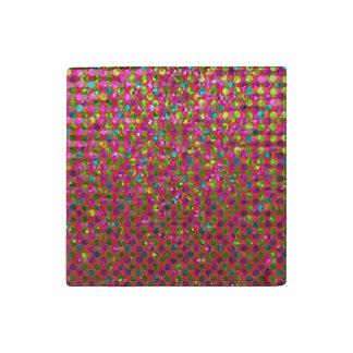 Stone Magnet Polka Dots Sparkley Jewels