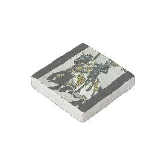 Stone magnet with 'Knight on Horseback' image