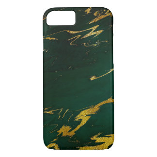 Stone Marble Emerald Gold Black iPhone Samsung iPhone 8/7 Case
