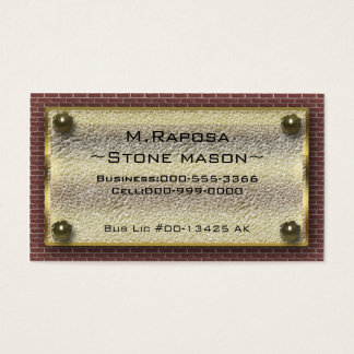 stone mason business card