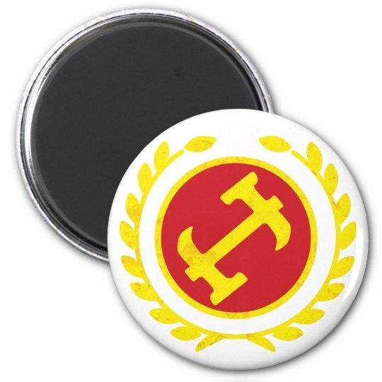 Stone Mason Logo 2 Inch Round Magnet