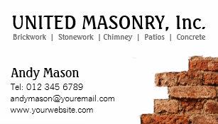 Masonry business cards templates zazzle stone masonry business cards colourmoves