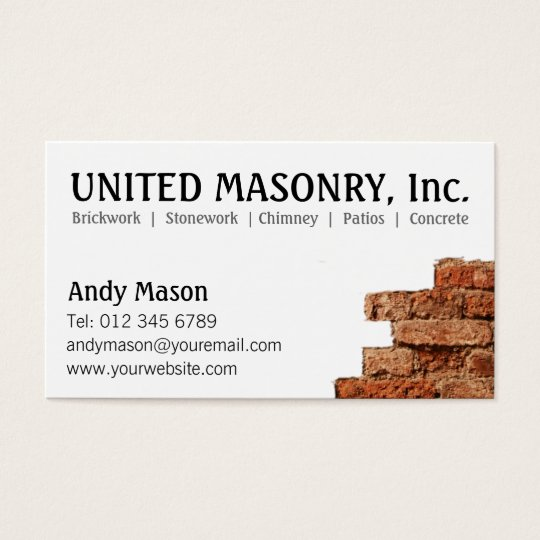 Vistaprint masonry business cards best business cards for Masonry business card ideas