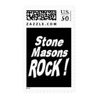 Stone Masons Rock ! Postage