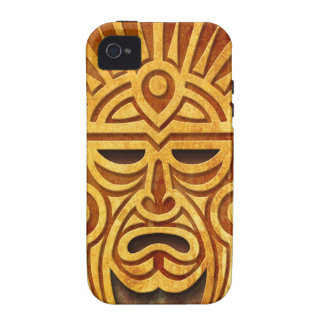 Stone Mayan Mask, full iPhone 4 Covers