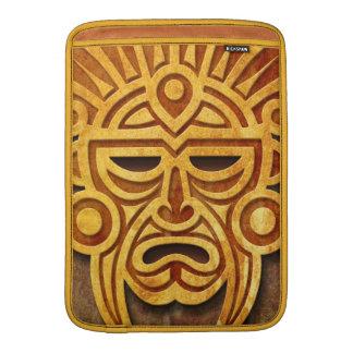 Stone Mayan Mask MacBook Sleeves