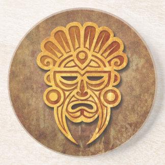 Stone Mayan Mask Sandstone Coaster
