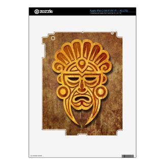 Stone Mayan Mask Skin For iPad 3