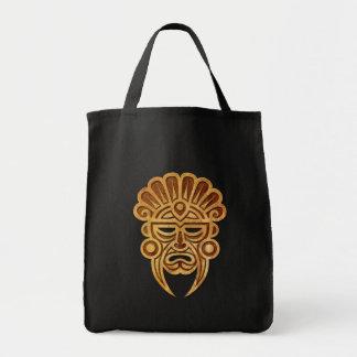 Stone Mayan Mask Tote Bag