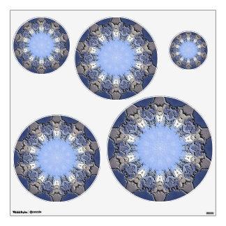 Stone METAL Element Kaleido circles wall decal