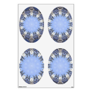 Stone METAL Element Kaleido ovals wall decal