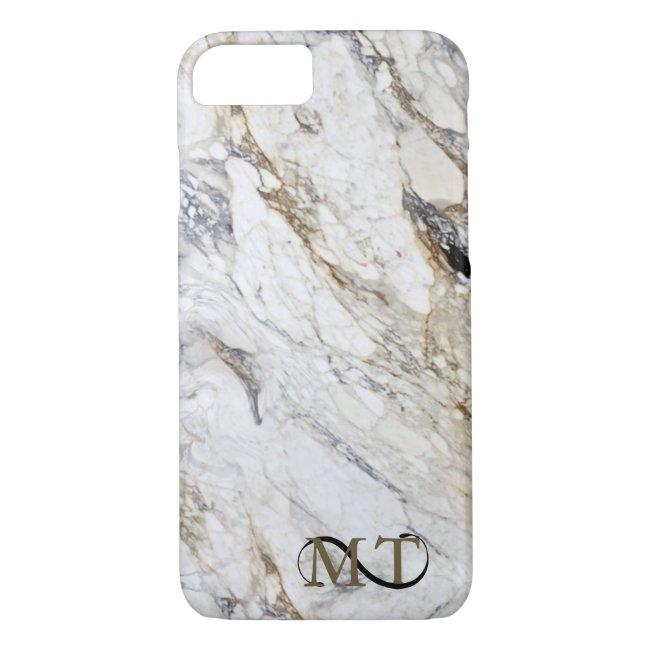 Stone Monogram Marble B&W ID316