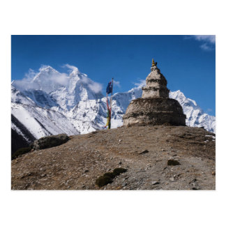 Stone Monument & Snowy Mountains (Himalayas) Postcard