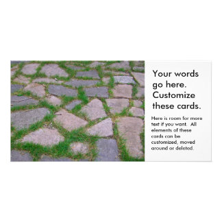 Stone mosaic patio stones pretty natural pattern card