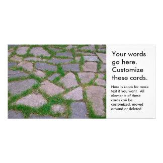 Stone mosaic patio stones pretty natural pattern card