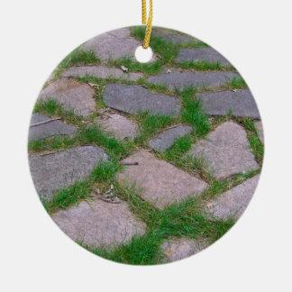Stone mosaic patio stones pretty natural pattern ceramic ornament