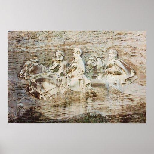 Stone mountain carving georgia print zazzle