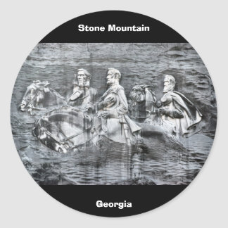 Stone Mountain, Georgia Classic Round Sticker