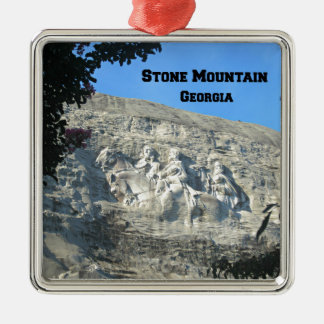 Stone Mountain, Georgia Adorno Cuadrado Plateado